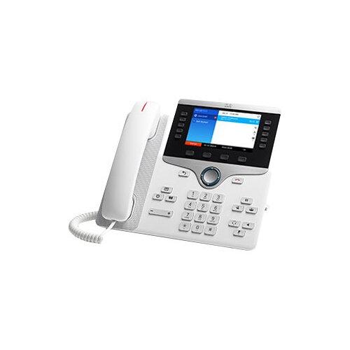 Cisco IP Phone 8851 - VoIP phone - SIP, RTCP, RTP, SRTP, SDP - 5 lines - white