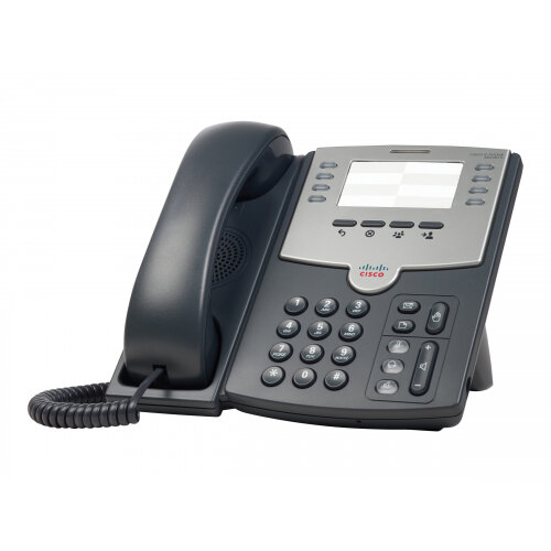 Cisco Small Business SPA 501G - VoIP phone - SIP, SIP v2, SPCP - multiline - silver, dark grey - for Small Business Pro Unified Communications 320 with 4 FXO