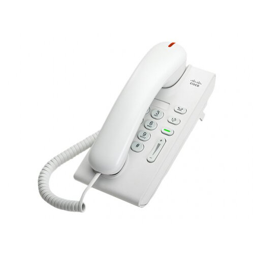 Cisco Unified IP Phone 6901 Slimline - VoIP phone - SCCP - arctic white