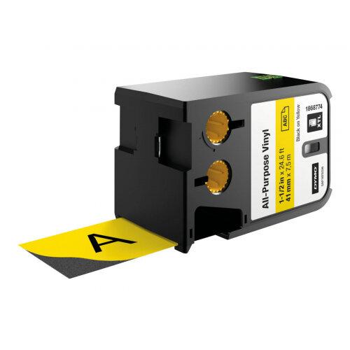 DYMO XTL All-Purpose - Vinyl - black on yellow - Roll (4.1 cm x 7.5 m) 1 roll(s) labels - for XTL 500