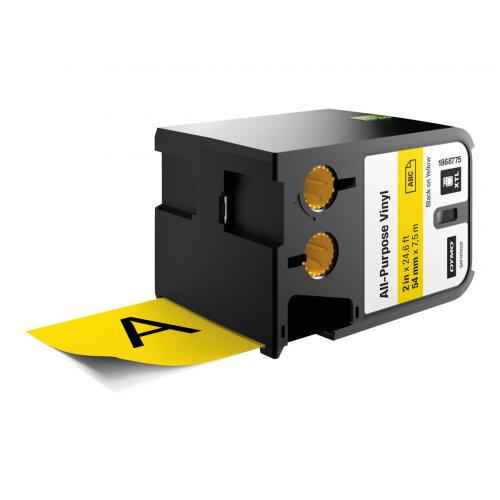 DYMO XTL - Vinyl - permanent adhesive - black on yellow - Roll (5.4 cm x 7 m) 1 roll(s) tape - for XTL 500