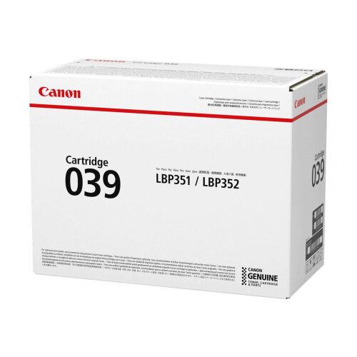 Canon 039 - Black - original - toner cartridge - for imageCLASS LBP351dn, LBP351x, LBP352dn, LBP352x; i-SENSYS LBP351x, LBP352x; Satera LBP351i