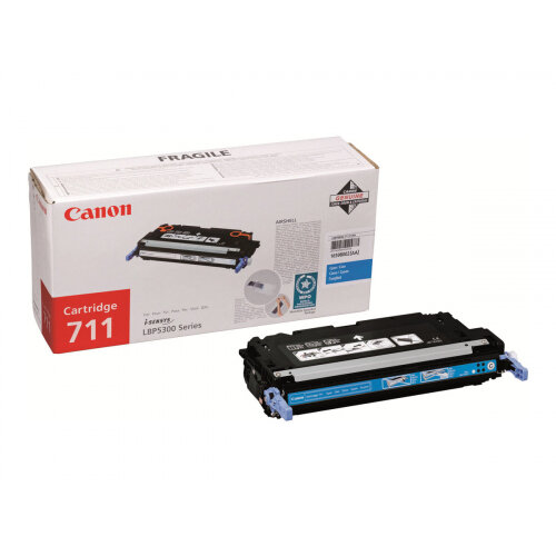 Canon 711 - Cyan - original - toner cartridge - for Color imageCLASS MF8450c; ImageCLASS MF8450c, MF9170c; i-SENSYS LBP5300, MF8450, MF9170