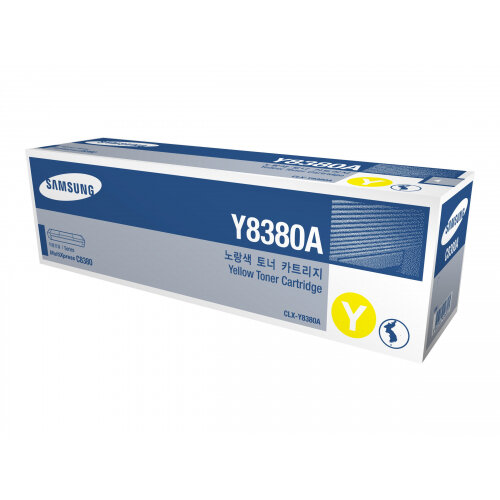 Samsung CLX-Y8380A - Yellow - original - toner cartridge (SU627A) - for Samsung CLX-8380ND, CLX-8380NDG, CLX-8380NI, CLX-8385ND