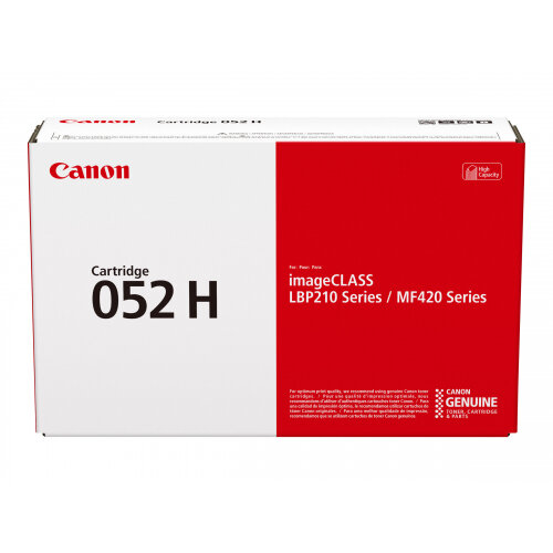Canon 052 H - High capacity - black - original - toner cartridge - for imageCLASS LBP212, LBP215, MF426; i-SENSYS LBP212, LBP214, LBP215, MF421, MF426, MF429