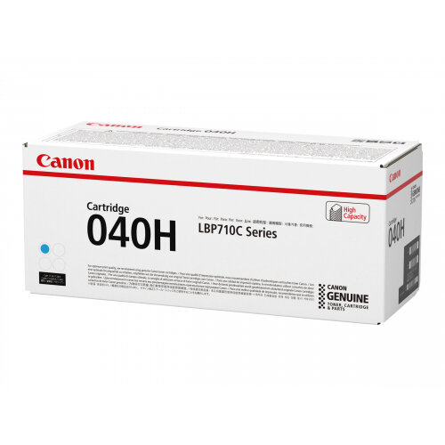 Canon 040 H - Cyan - original - toner cartridge - for imageCLASS LBP712Cdn; i-SENSYS LBP710Cx, LBP712Cx; Satera LBP712Ci