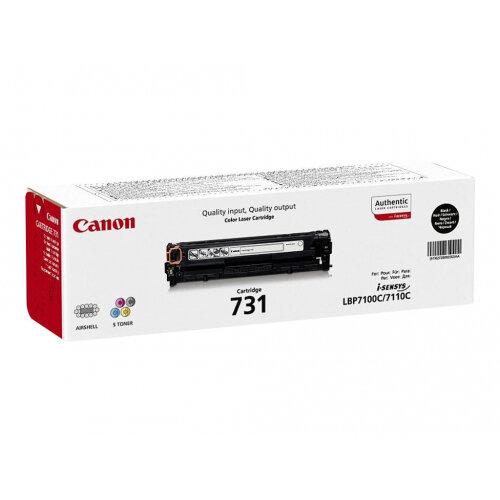 Canon 731 BK - Black - original - toner cartridge - for i-SENSYS LBP7100Cn, LBP7110Cw, MF623Cn, MF628Cw, MF8230Cn, MF8280Cw