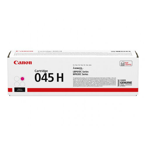Canon 045 H - High capacity - magenta - original - toner cartridge - for ImageCLASS LBP612, LBP613, MF633, MF635; i-SENSYS LBP611, LBP613, MF631, MF633, MF635