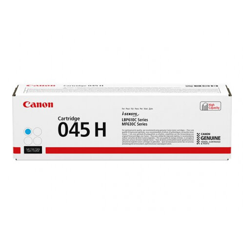 Canon 045 H - High capacity - cyan - original - toner cartridge - for ImageCLASS LBP612, LBP613, MF633, MF635; i-SENSYS LBP611, LBP613, MF631, MF633, MF635