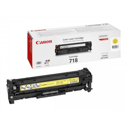 Canon 718 Yellow - Yellow - original - toner cartridge - for i-SENSYS LBP7210, LBP7680, MF728, MF729, MF8340, MF8360, MF8380, MF8540, MF8550, MF8580