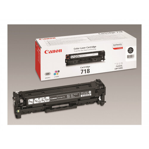 Canon 718 Black - Black - original - toner cartridge - for i-SENSYS LBP7210, LBP7680, MF728, MF729, MF8340, MF8360, MF8380, MF8540, MF8550, MF8580