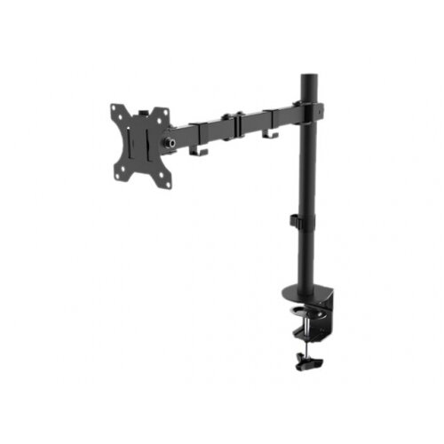 "NewStar Full Motion Desk Mount - Black, Adjustable Arm, LCD Display, Black, Screen Size 10-32"", 8kg Max Weight, Cable System &360 Degree Rotation (FPMA-D550BLACK)"