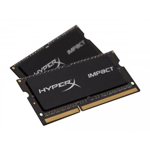 HyperX Impact Black Series - DDR3L - 16 GB: 2 x 8 GB - SO-DIMM 204-pin - 1600 MHz / PC3L-12800 - CL9 - 1.35 / 1.5 V - unbuffered - non-ECC