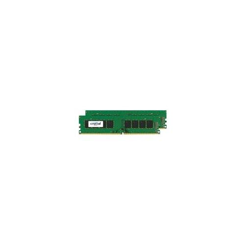 Crucial - DDR4 - 16 GB: 2 x 8 GB - DIMM 288-pin - 2400 MHz / PC4-19200 - CL17 - 1.2 V - unbuffered - non-ECC
