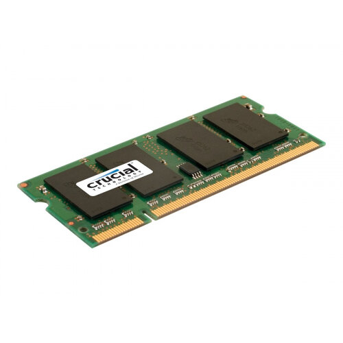 Crucial - DDR2 - 2 GB - SO-DIMM 200-pin - 800 MHz / PC2-6400 - CL6 - 1.8 V - unbuffered - non-ECC - for DFI CA230; Intel Desktop Board D945; J& MINIX-780G-SP128; Jetway NF94; MSI Fuzzy RS690
