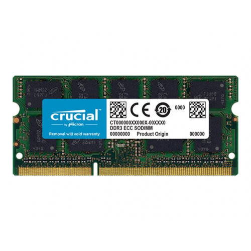 Crucial - DDR3L - 4 GB - SO-DIMM 204-pin - 1866 MHz / PC3L-14900 - CL13 - 1.35 V - unbuffered - non-ECC - for Apple Mac Pro (Late 2013)