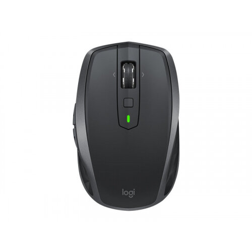 Logitech MX Anywhere 2S - Mouse - laser - 7 buttons - wireless - Bluetooth, 2.4 GHz - USB wireless receiver - graphite
