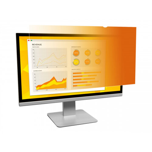 """3M Gold Privacy Filter for 23.6"""" Widescreen Monitor - Display privacy filter - 23.6"""" wide - gold"""