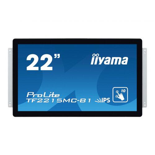 "Iiyama ProLite TF2215MC-B1 - LED Computer Monitor - 21.5"" - open frame - touchscreen - 1920 x 1080 Full HD (1080p) - IPS - 250 cd/m² - 1000:1 - 14 ms - HDMI, VGA, DisplayPort - black"