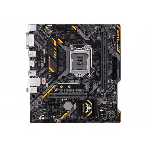 ASUS TUF B360M-E GAMING - Motherboard - micro ATX - LGA1151 Socket - B360 - USB 3.1 Gen 1, USB 3.1 Gen 2 - Gigabit LAN - onboard graphics (CPU required) - HD Audio (8-channel)