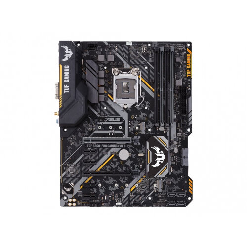 ASUS TUF B360-PRO GAMING (WI-FI) - Motherboard - ATX - LGA1151 Socket - B360 - USB 3.1 Gen 1, USB 3.1 Gen 2, USB-C Gen1 - Bluetooth, Gigabit LAN, Wi-Fi - onboard graphics (CPU required) - HD Audio (8-channel)