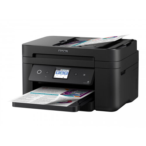 Epson WorkForce WF-2860DWF - Multifunction printer - colour - ink-jet - A4/Legal (media) - up to 33 ppm (printing) - 150 sheets - 33.6 Kbps - USB 2.0, LAN, Wi-Fi(n), NFC