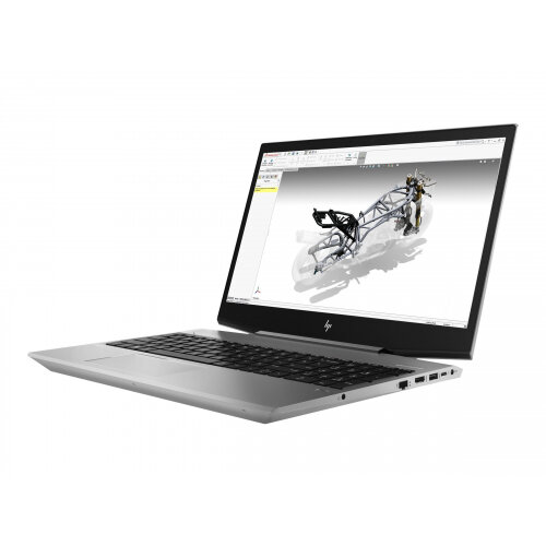 "HP ZBook 15v G5 Mobile Workstation  Laptop - Core i7 8850H / 2.6 GHz - Win 10 Pro 64-bit - 16 GB RAM - 512 GB SSD (16 GB SSD cache) NVMe - 15.6"" 1920 x 1080 (Full HD) - Quadro P600 / UHD Graphics 630 - Wi-Fi, Bluetooth - turbo silver - kbd: UK"