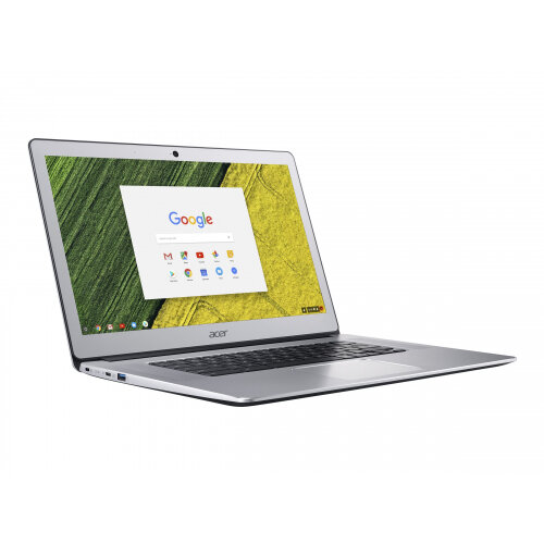 "Acer Chromebook 15 CB515-1HT-P099 - Pentium N4200 / 1.1 GHz - Chrome OS - 4 GB RAM - 64 GB eMMC - 15.6"" IPS touchscreen 1920 x 1080 (Full HD) - HD Graphics 505 - Wi-Fi, Bluetooth - pure silver - kbd: UK - Up to 12 Hours Battery Life"