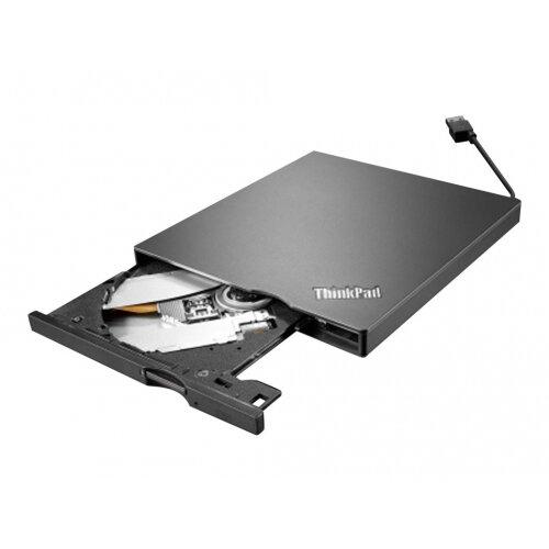 Lenovo ThinkPad UltraSlim USB DVD Burner - Disk drive - DVD±RW (±R DL) / DVD-RAM - SuperSpeed USB 3.0 - external - CRU - for 330-20; 330S-14; 510-15; Legion C530-19; T530-28; T730-28; ThinkPad P52; V130-14; V130-15