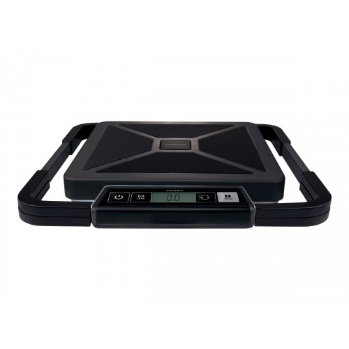 DYMO S50 - Postal scales - capacity: 50 kg / 110 lbs - graduation: 100 g - 30 cm x 30 cm - wired display - black