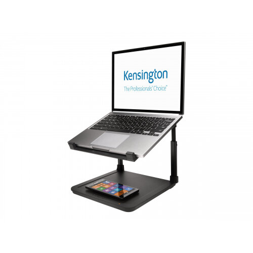 """Kensington SmartFit Laptop Riser with Wireless Phone Charging Pad - Notebook stand - 15.6"""" - black"""