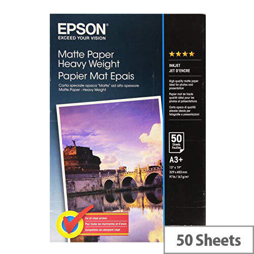 Epson - Matte - A3 plus (329 x 423 mm) - 167 g/m² - 50 sheet(s) paper - for EcoTank ET-16500; SureColor P5000, P800, SC-P10000, P20000, P5000