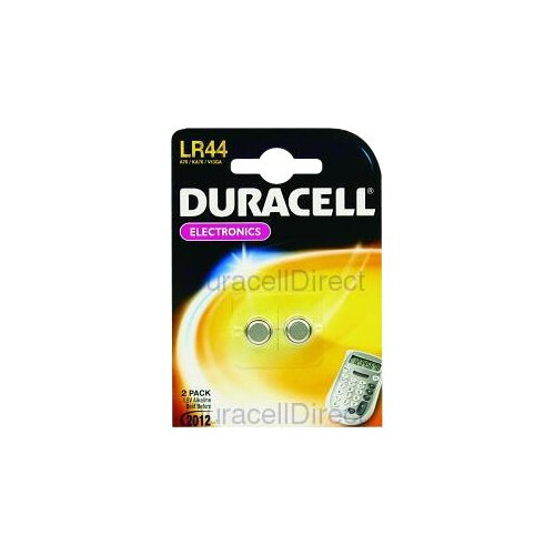 Duracell LR44 - Battery 2 x LR44 Alkaline 150 mAh