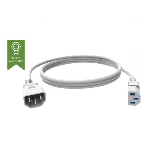 Vision Techconnect - Power extension cable - IEC 60320 C13 to IEC 60320 C14 - 250 V - 10 A - 1 m - white