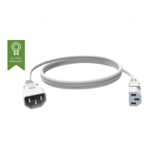 Vision Techconnect - Power extension cable - IEC 60320 C13 to IEC 60320 C14 - 250 V - 10 A - 2 m - white