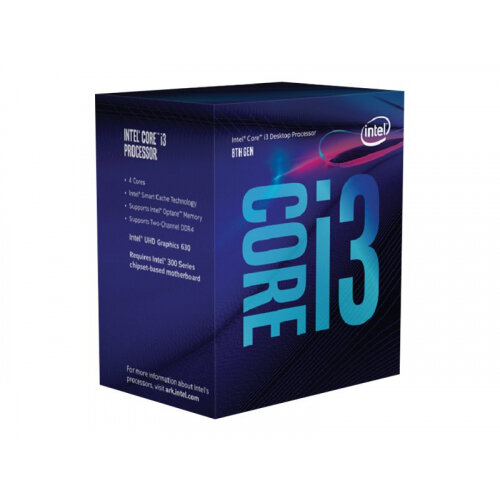 Intel Core i3 8350K - 4 GHz - 4 cores - 4 threads - 8 MB cache - LGA1151 Socket - Box