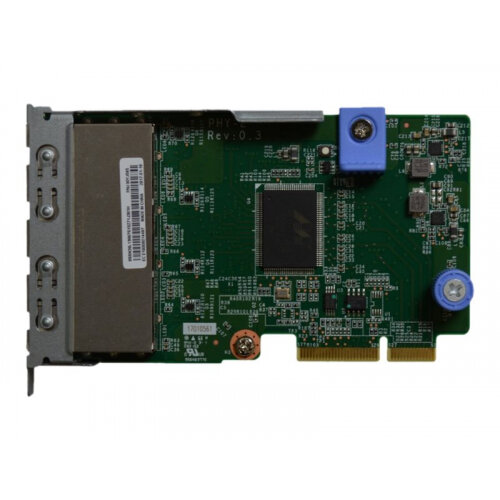 Lenovo ThinkSystem - Network adapter - LAN-on-motherboard (LOM) - Gigabit Ethernet x 4 - for ThinkSystem SR630; SR650; SR850; SR860; SR950