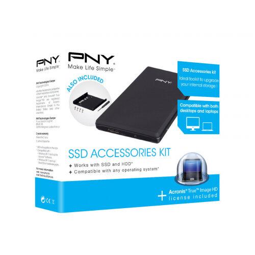 """PNY SSD Accessories Kit - Storage enclosure - 2.5"""" - USB 3.0"""