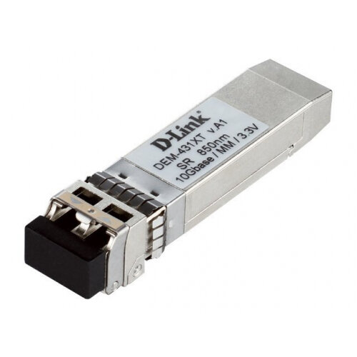 D-Link DEM 431XT - SFP+ transceiver module - 10 GigE - 10GBase-SR - up to 300 m - for D-Link Data Center 10; DGS 3630; DXS 1100, 1210, 3400, 3600; Web Smart DXS-1210-12