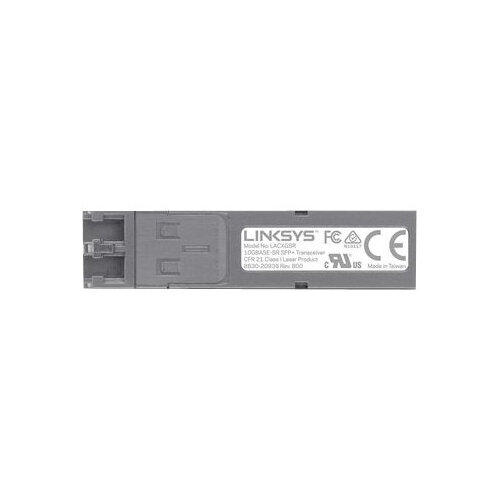 Linksys Business LACXGSR - SFP+ transceiver module - 10 GigE - 10GBase-SR - LC multi-mode - up to 300 m - 850 nm - for Business LGS552, LGS552P, Smart LGS318P, Smart LGS326P