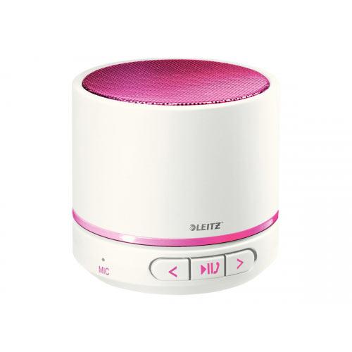 Leitz WOW - Speaker - for portable use - wireless - Bluetooth - 3 Watt - pink metallic