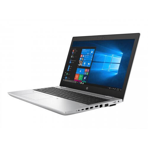 """HP ProBook 650 G4  Laptop - Core i5 8250U / 1.6 GHz - Win 10 Pro 64-bit - 4 GB RAM - 500 GB HDD - DVD-Writer - 15.6"""" IPS 1920 x 1080 (Full HD) - UHD Graphics 620 - Wi-Fi, Bluetooth - natural silver - kbd: UK"""