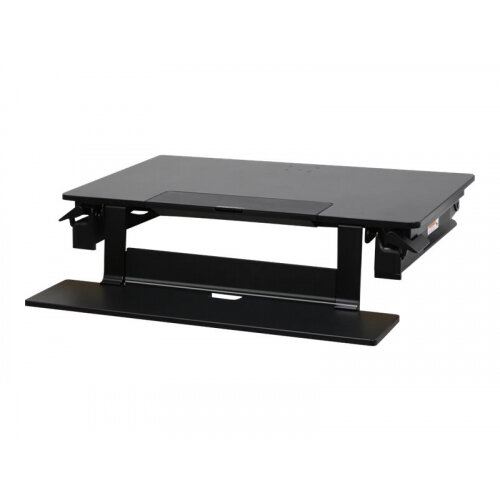 """Ergotron WorkFit-TLE Sit-Stand Desktop Workstation - Stand for monitor / keyboard / tablet / mobile phone - black - screen size: up to 30"""" - table-top"""
