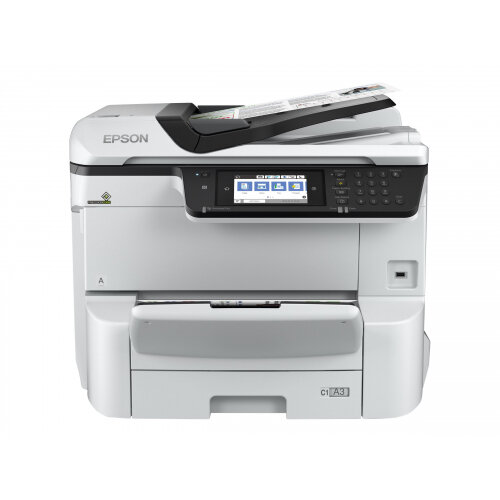 Epson WorkForce Pro WF-C8610DWF - Multifunction printer - colour - ink-jet - A3 (297 x 420 mm) (original) - A3 (media) - up to 22 ppm (copying) - up to 35 ppm (printing) - 335 sheets - 33.6 Kbps - USB 2.0, Gigabit LAN, USB host, NFC, USB 3.0, Wi-Fi(ac)