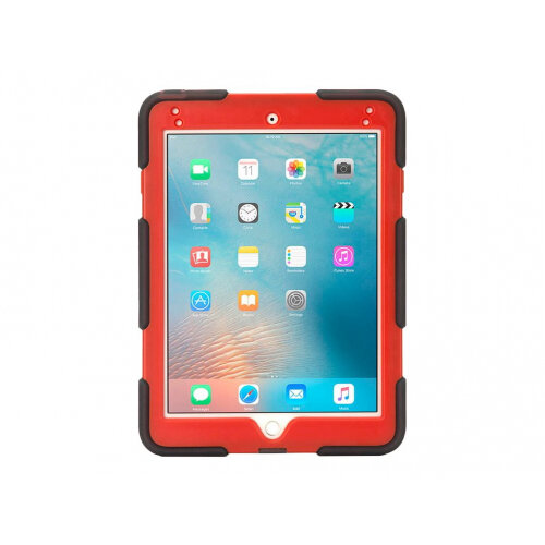 Griffin Survivor All-Terrain - Protective case for tablet - rugged - silicone, polycarbonate, PET - red, smoke - for Apple iPad Air 2