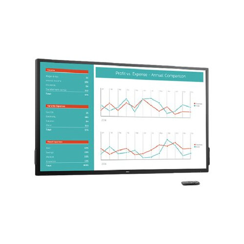 "Dell C7017T - 70"" Class (69.513"" viewable) LED display - interactive communication - 1080p (Full HD) 1920 x 1080 - black - with 3 years Advanced Exchange"