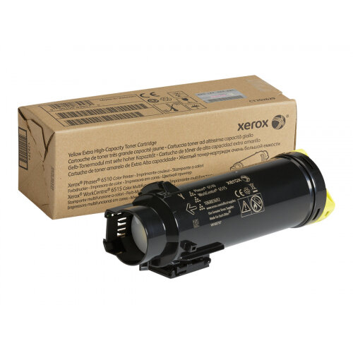Xerox WorkCentre 6515 - Extra High Capacity - yellow - original - toner cartridge - for Phaser 6510; WorkCentre 6510, 6515