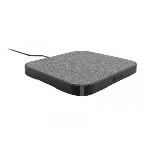 Griffin PowerBlock - Wireless charging mat + AC power adapter - 15 Watt - black - for Apple iPhone 8, 8 Plus, X