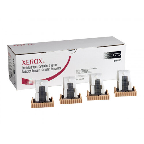 Xerox WorkCentre 7525/7530/7535/7545/7556 - Staple cartridge (pack of 4) - for Xerox D136; Color C60, C70, C75, J75; WorkCentre 7556, 7830/35, 7845/55, 78XX, 79XX