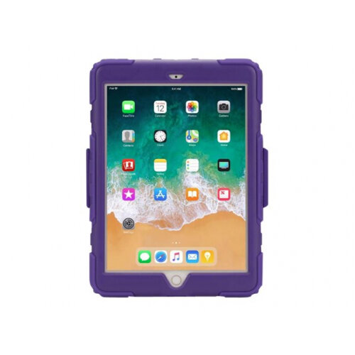 Griffin Survivor All-Terrain - Protective case for tablet - rugged - silicone, polycarbonate, PET - purple - for Apple 9.7-inch iPad (5th generation, 6th generation)
